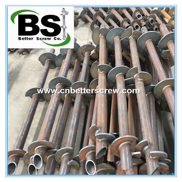 New construction steel helical piers