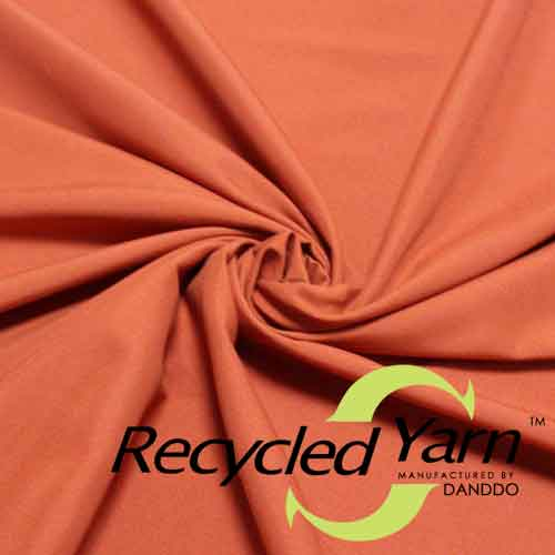 RPET Recycled Yarn Polyester Microfiber Peach Skin 75D150D 110gsm To 135gsm Small MOQ