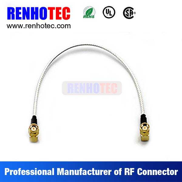 Factory Price Double R/A SMA Plug Electrical Coaxial Wire Connectors Custom Cable Assembly for LMR20