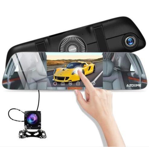 AZDOME PG01 Mirror Dashcam Touch Screen, FHD 1080P G-sensor Parking Monitor Recording