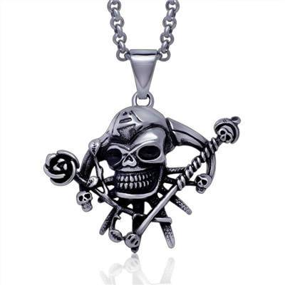 316Lstainless steel evil skull pendant for men charms