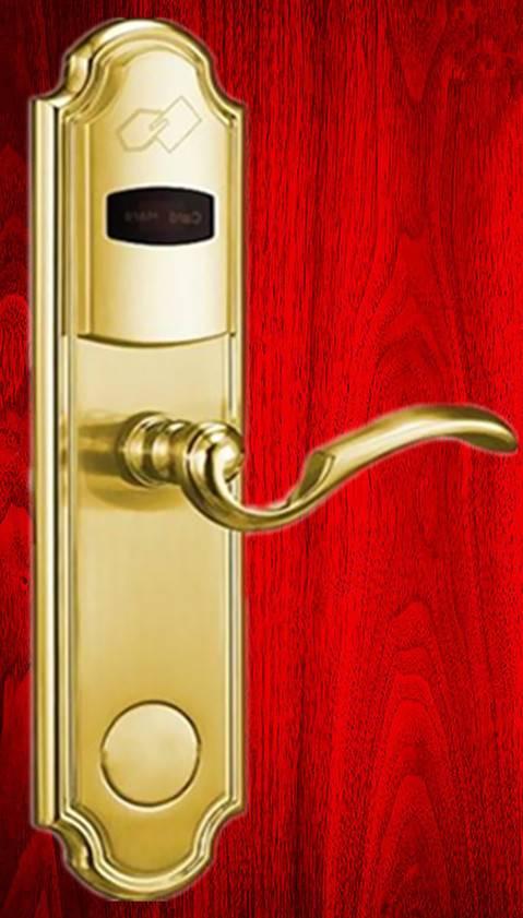 Hotel Door Lock With intelligent RF ID Card.hotel card reader door lock