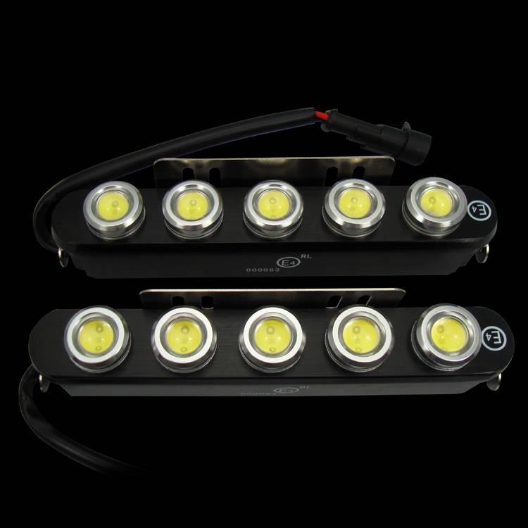 10w 12v led drl emark approval daytime running car light
