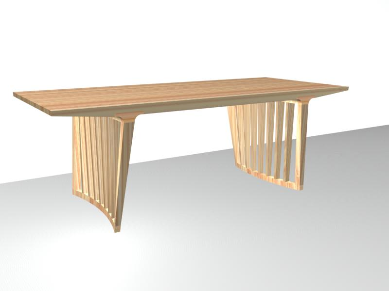 Alta Dining Table with Slat Leg (8311)