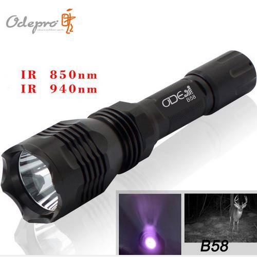 Odepro Infrared Flashlight 5W 940nm Waterproof Aluminium Rechargeable IR Flashlight