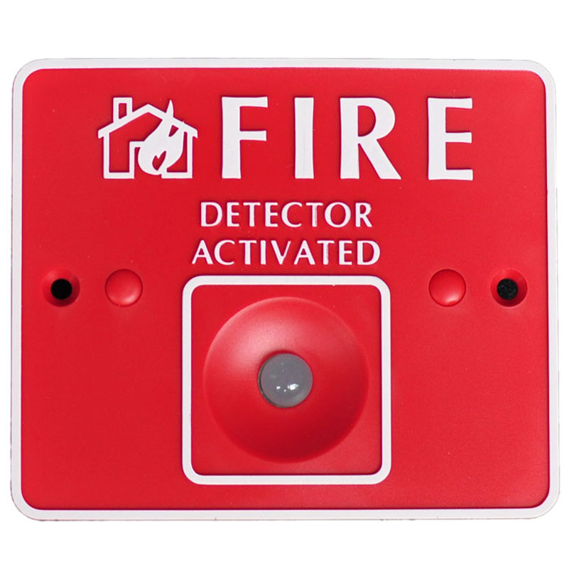 Remote LED for fire alarm security system