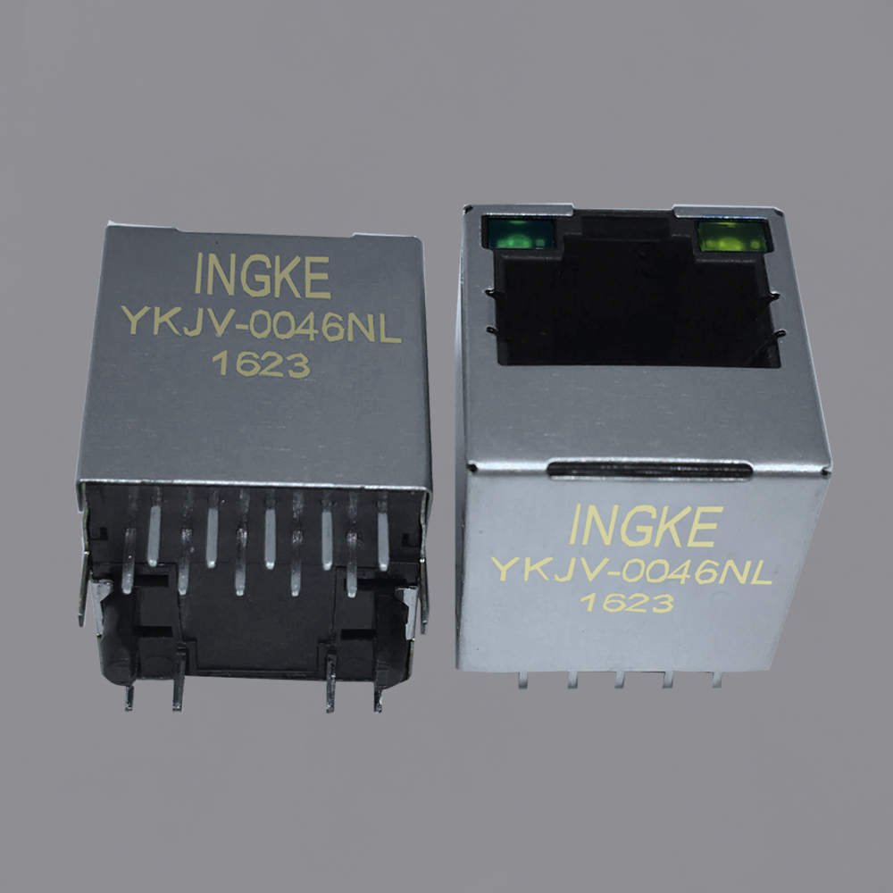 Ingke YKJV-0046NL 100% cross SI-46004-F 10/100 Base-T Magnetic RJ45 Connectors