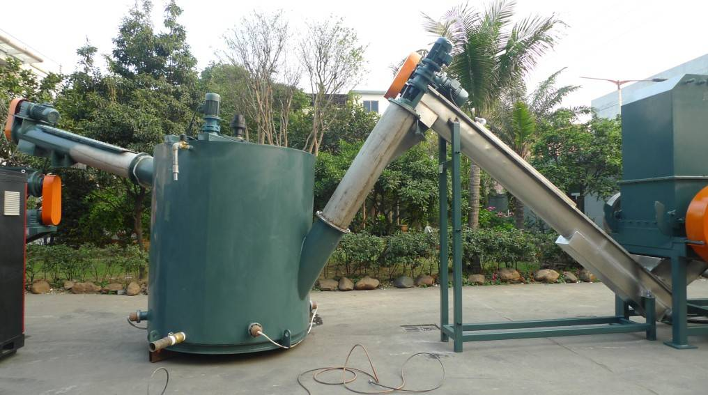 PET bottles crushing, recycling and washing production line
