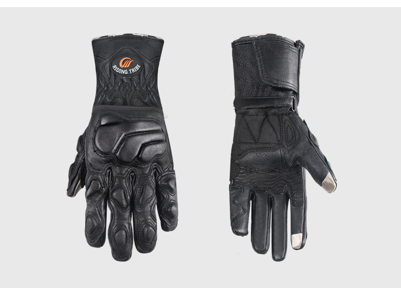 Leather Gloves with Long Cuff