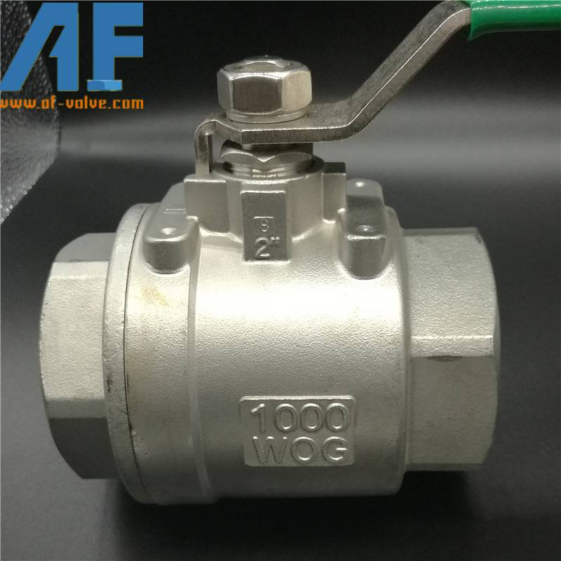 Stainless steel 2 Pcs Ball Valves with CE certificate