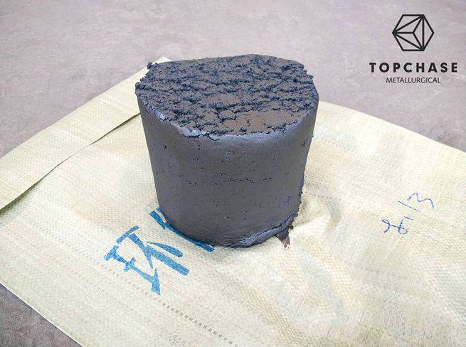 Anhydrous taphole clay for blast furnace