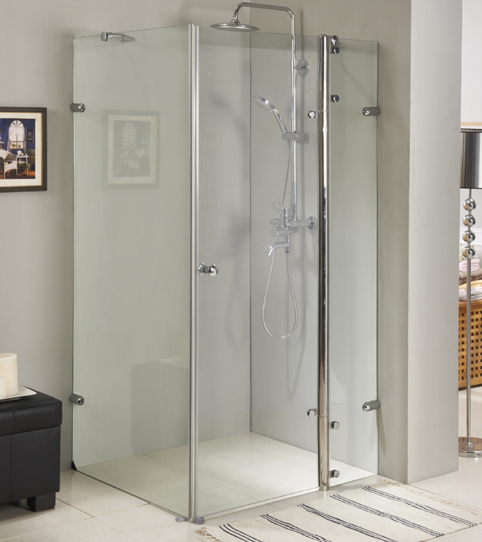 Frameless square shower enclosures,square shower room with S.S. #304 hinge
