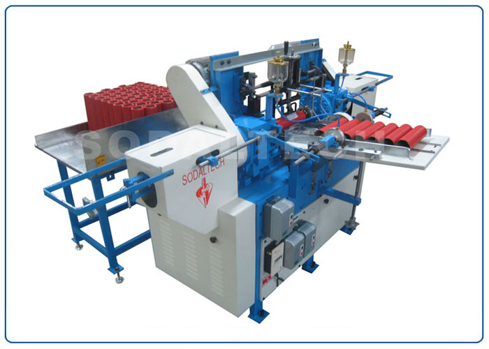 Paper Tube Nosing and Base Polishing Machine