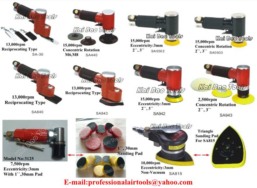 1``,2``,3`` Air Angle Sander/Polisher Pneumatic 90Degree Right Angle Sander/Buffing Machine Pneumati