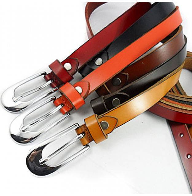 2015 stylish metal buckle leather belts cheap leather belts LB3448