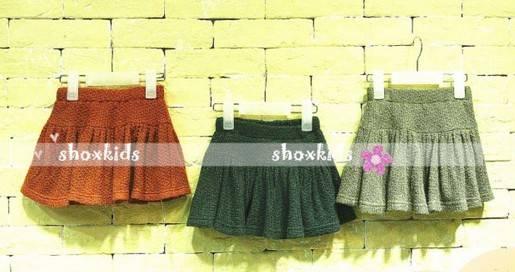 Fashion Chinlon girl pleated skirt