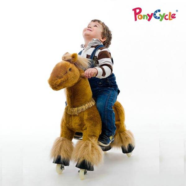 PonyCycle Ride On Plush horse toy for kids