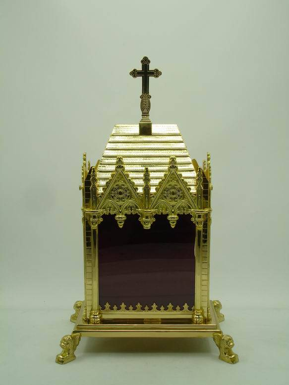 High Quality Brass Reliquary Excellent Monstrance Religious Articles X1-2