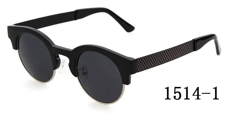 Circle Cat Eey Eyewears Retro Round Half Frame Fashion Sunglasses Mirror Lens Sun Glasses