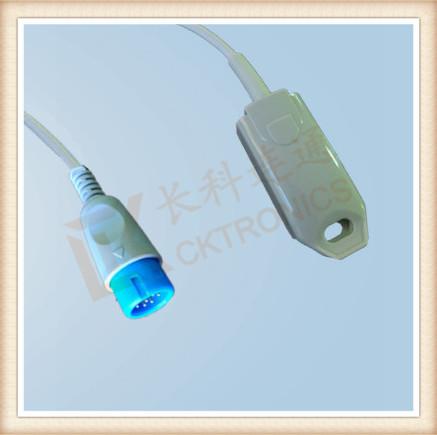 BRUKER 12 Pin Adult Finger Clip SpO2 Sensor