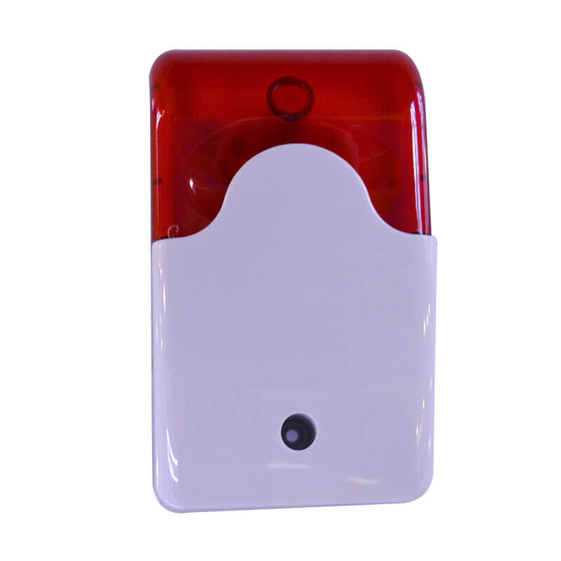 Cheap High Security CE 12V Wired Strobe Siren With Flash Light mini Strobe Siren