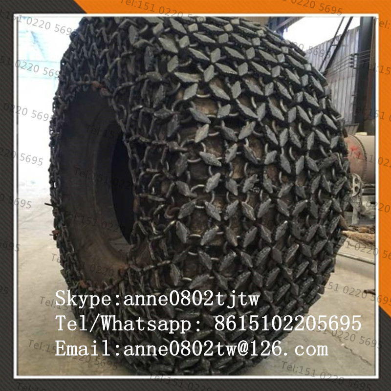 wheel loader Tire protection Chains 23.5r25 mining tire chains
