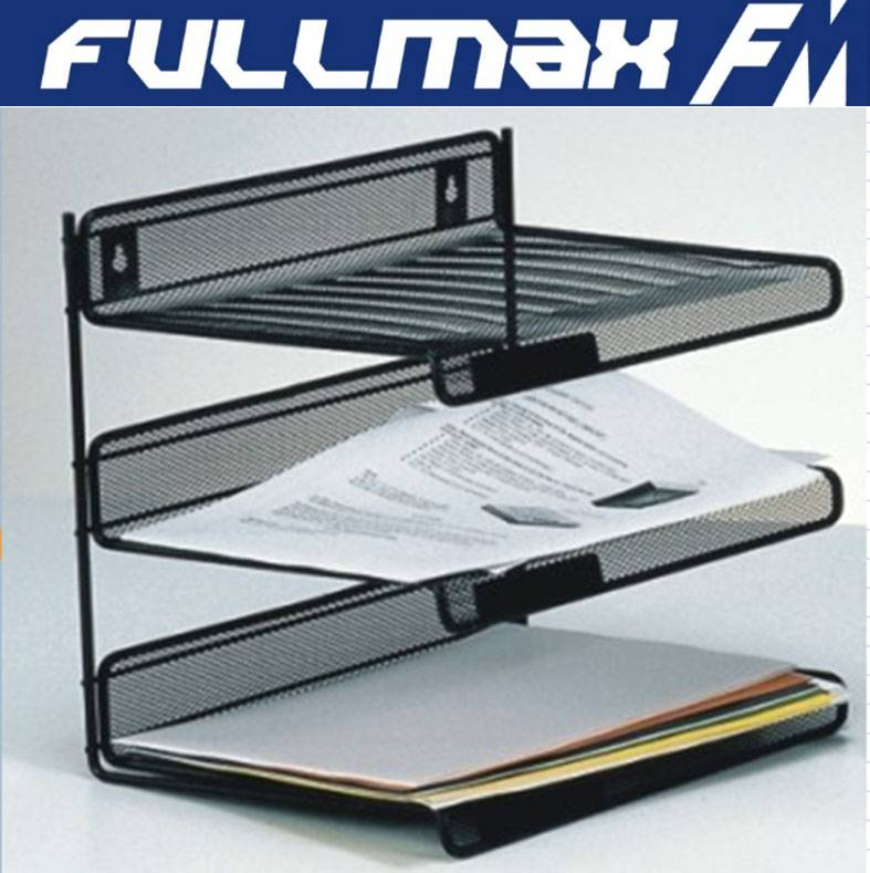 Desk File Mesh Holder Metal Three-Tiered