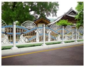 Guardrail for sidewalks