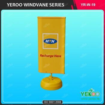 Floor Standing Customized Vacuum Outdoor Advertising Waterproof ABS Windvane Display