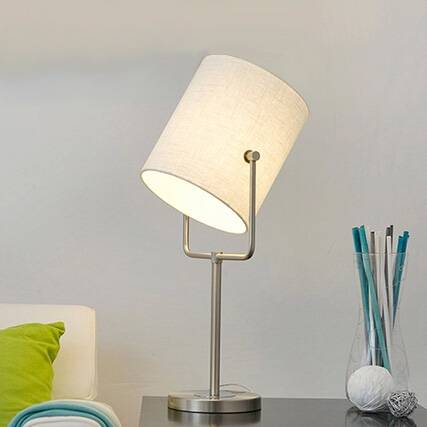 new modern fabric table lamp hotel decorative desk lighting