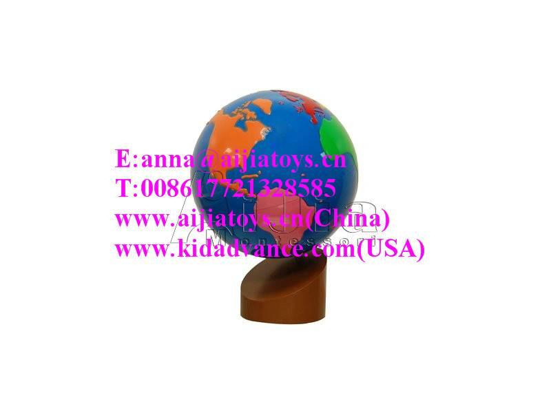 Montessori Globe - World Parts,montessori materials toys