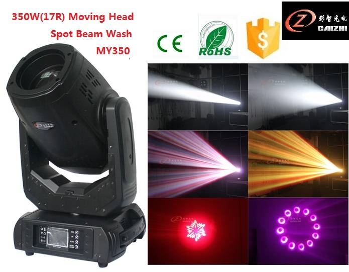 Sharpy 17r 350w spot wash beam 4in1 RGBW moving head stage light for disco for dj for Wedding