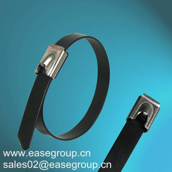 Chinese Manufacture Epoxy Coated Stainless Steel Cable Ties with UL