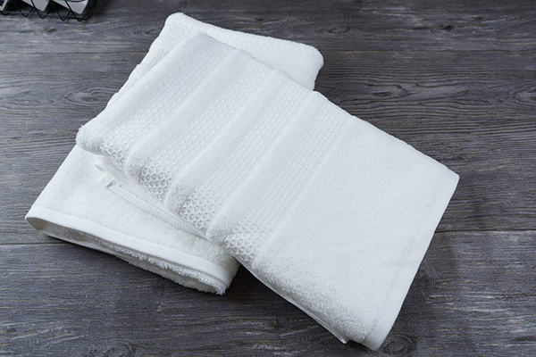 Custom star hotel supplies high quality pure white cotton towel