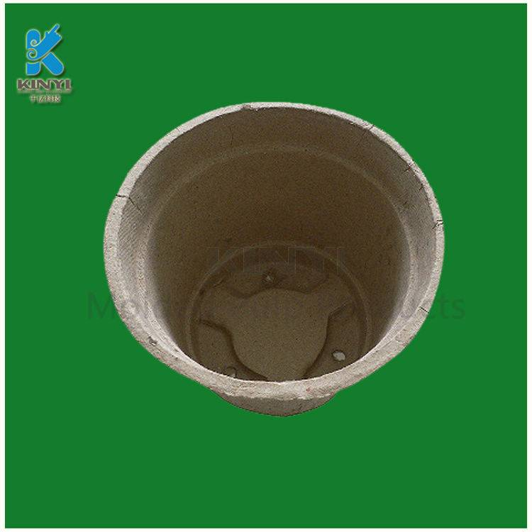 Molded fiber pulp flower pot cup