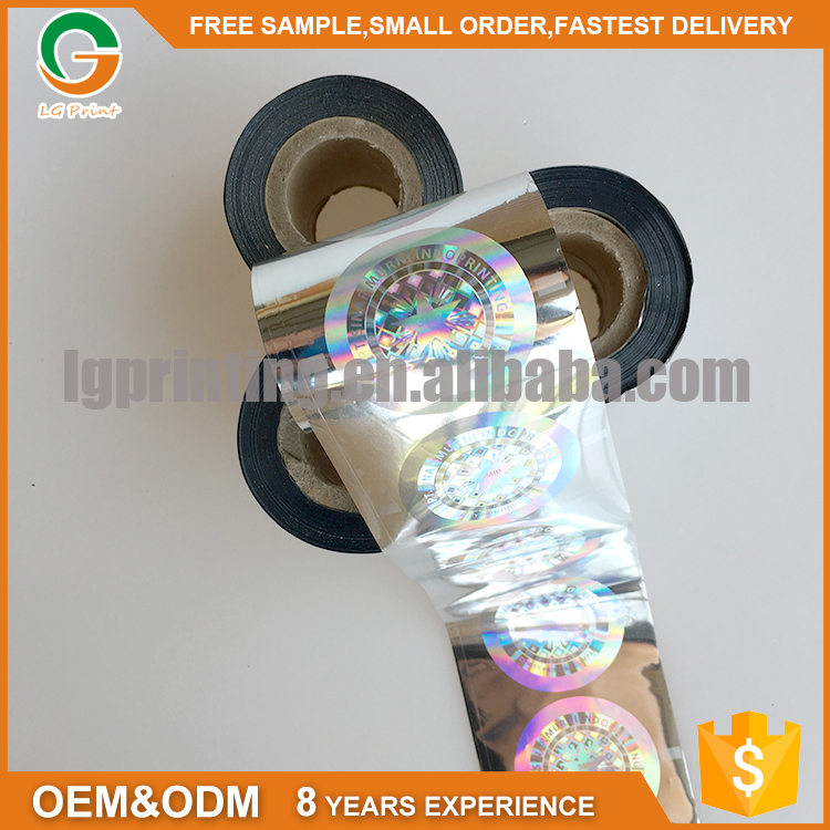 Custom 3d Secure Vinyl Self Adhesive Holographic Film Roll