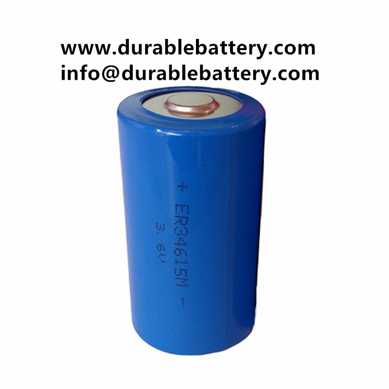 ER34615M 3.6V D Type 14000mAh Lithium Thionyl Chloride Power Type Battery