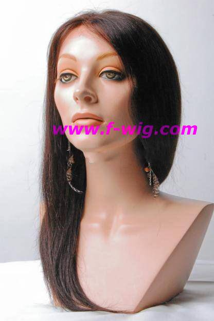 100% Indian Remy Yaki Straight Full Lace Wig/Human hair wig
