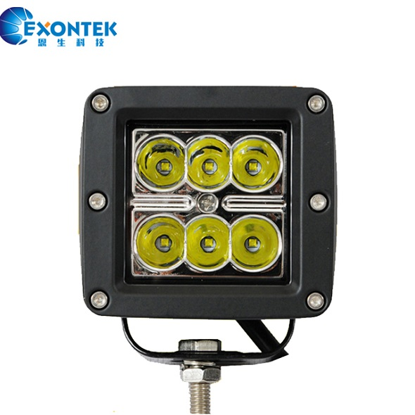 4x4 motorcycle boat led work light 18W 4x4 running lights 18W JEEP agricultural machinery Tractor