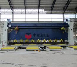 Rolling machine for shipyards