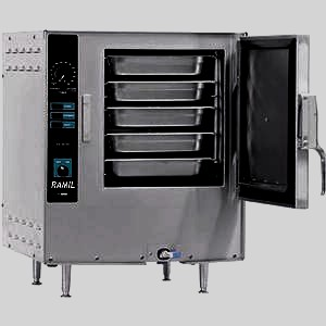 Gas Steam Oven with 5 pans