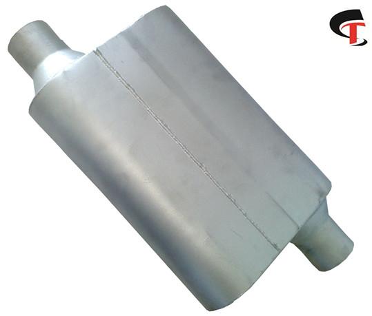 Auto Universal Oval Muffler Aluminum