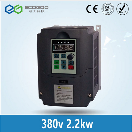Freeshipping 3 Phase 2.2kw 380V/5A Frequency Inverter&Optional parts (extension cable and box)