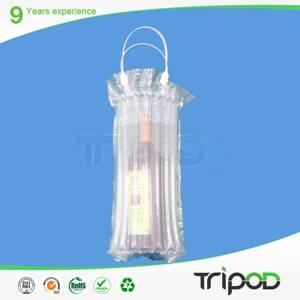 red wine bag,clear air bag, 750ml red wine bottle packaging