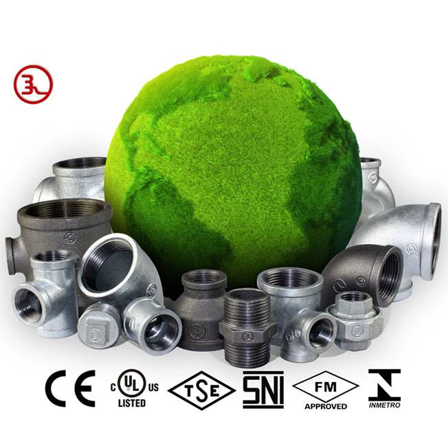 Malleable iron threaded fittings