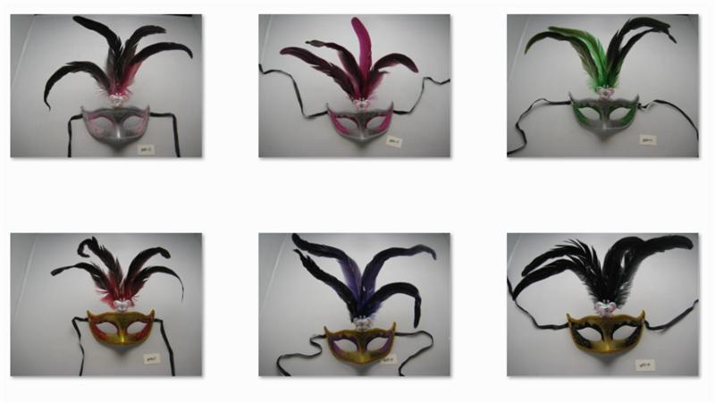 Halloween Venetian Masquerade Dancing Party Peacock Feather Eye Mask