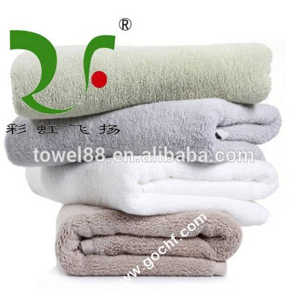 plush 100% cotton dobby border/band bath towel wholesaler