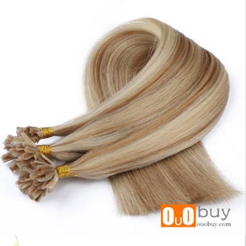 100% Remy Human Hair Free Shedding U tip Hair Extension Straight Nail Tip
