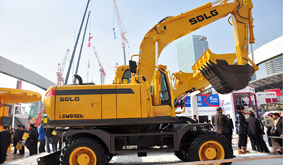 SDLG 15T wheel excavator LGW6150E with best quality for sale