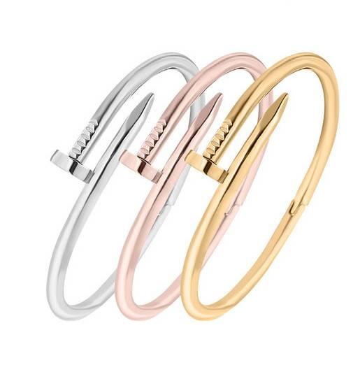Fashion Women Nail Bangle Bracelet 3 colors